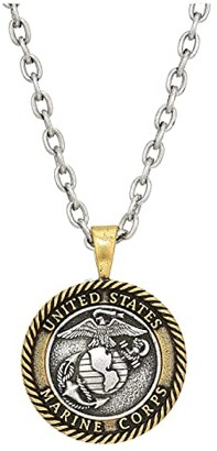 Alex and Ani Marines 28 Necklace (Two-Tone) Necklace