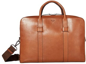 Shinola Detroit Guardian Briefcase Palmer (Whiskey) Bags