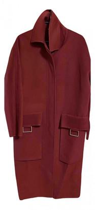 Hermes Burgundy Cashmere Coats