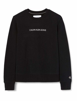 Calvin Klein Jeans Women's Shrunken INSTITUTIONAL GMD CN Sweater