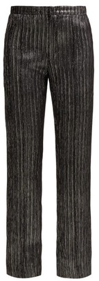 Isabel Marant Denlo Cropped Lame Trousers - Womens - Black Silver