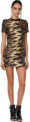 DSQUARED2 Printed Silk Twill Mini Dress