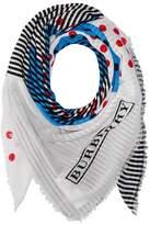 Burberry Stripe Dot Print Scarf Scarves