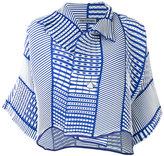 Issey Miyake cloqué jacket - women - Polyester - 2