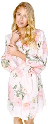 Plum Pretty Sugar Floral Blush Knee-Length Robe