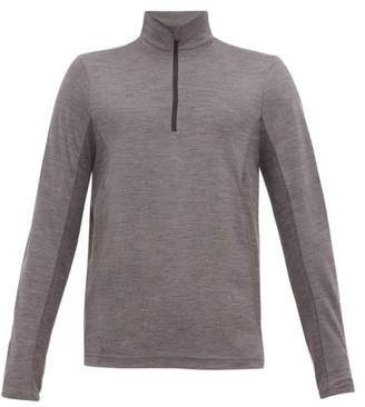 Sease - Half-zip Wool-jersey Thermal Top - Mens - Grey