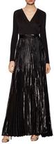 Diane von Furstenberg Heavyn Metallic Pleated Gown