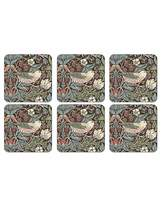 Pimpernel Strawberry Thief Brown Coasters S/ 6