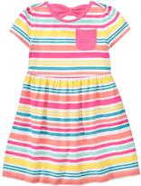 Gymboree Pink & Yellow Stripe A-Line Dress - Infant & Toddler
