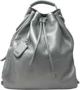 DKNY Silver Soft Leather Backpack