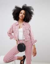 Pull&Bear two-piece denim jacket in stripe
