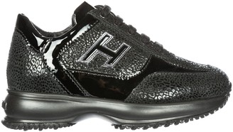 Hogan Contrasting Panelled Chunky Sneakers