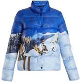 Moncler Brethil ski scene-print quilted-down jacket