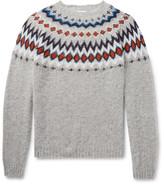 Norse Projects Birnir Fair Isle Virgin Wool Sweater - Gray