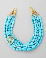 Moon and Lola Multi-Strand Turquoise Magnesite Necklace