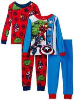 Marvel Avengers Boys 4-Piece Cotton Pajama Set
