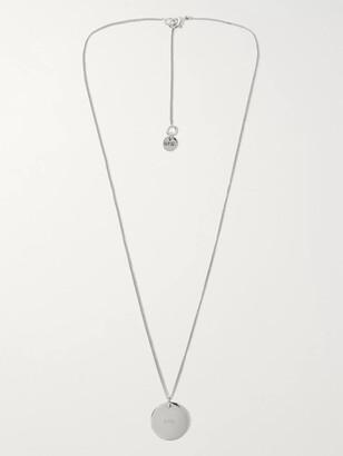 A.P.C. Logo-Engraved Silver-Tone Necklace