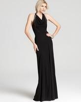 Yigal Azrouel Cut25 by Halter Dress - Leather Paneled Matte Jersey