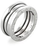 Bulgari Vintage 18k White Gold B.Zero Ring