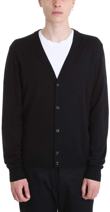 Maison Margiela Black Wool Cardigan
