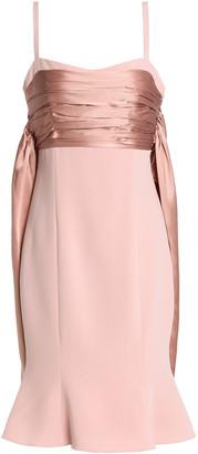 Cinq à Sept Draped Satin-crepe Midi Dress