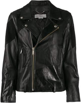 Golden Goose patchwork biker jacket