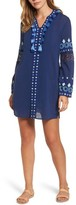 Vineyard Vines Women's Solid Embroidered Cover-Up