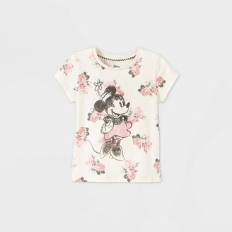 Disney Toddler Girls' Minnie Mouse Short Sleeve Graphic T-Shirt - Off-White Store