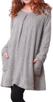Sweet Mommy Fluffy Tuck Boucle Nursing and Maternity Dress
