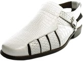 Stacy Adams Sacchi Men Round Toe Leather White Fisherman Sandal.