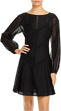 Rebecca Taylor Long Sleeve Organza Dress