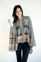 Goddis Candise Poncho In Brown Sugar