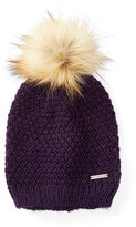 Ralph Lauren Faux-Fur Pom-Pom Hat