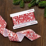Crate & Barrel Printed Snowflake Grosgrain Ribbon