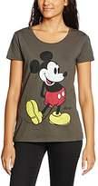 Disney Women's Mickey Kick T-Shirt,(Manufacturer Size:Medium)