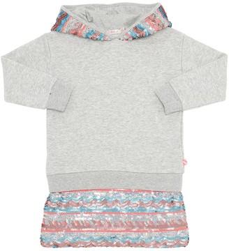 Billieblush EMBELLISHED COTTON SWEATSHIRT DRESS