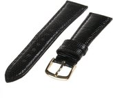 Republic Men's Genuine Java Lizard Watch Strap 16mm Regular Length, Black