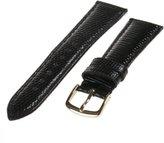 Republic Men's Genuine Java Lizard Watch Strap 16mm Regular Length, Black