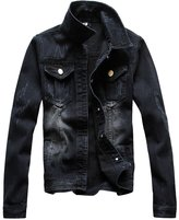 S-7 Men's Classic Single-breasted Denim Jacket