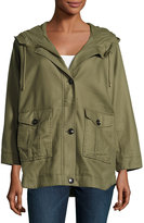 Joie Camea 3/4-Sleeve Cargo Jacket, Olive