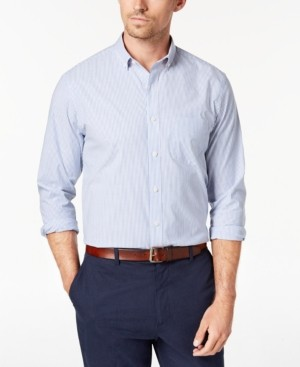 Club Room Men's Micro-Striped Cotton Shirt with Pocket, Created for Macy's