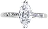 EWA Platinum Marquise Cut Diamond Ring, 0.63ct