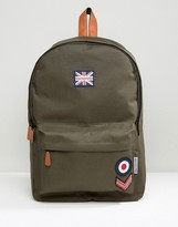 Lambretta Backpack Military With Badges In Khkai