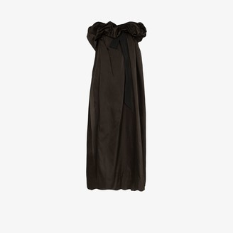 Dries Van Noten Seoni silk taffeta ruffle tie gown