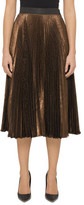 Christopher Kane PLEATED METALLIC SKIRT