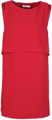 FRNCH Two-Tone Layered Popover Dress