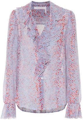 See by Chloe Printed cotton and silk blouse