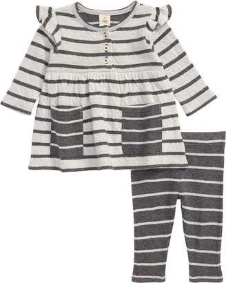 Tucker + Tate Stripe Long Sleeve Double Knit Dress & Leggings Set