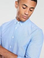 V By Very V by Very Long Sleeved Oxford Shirt - Blue