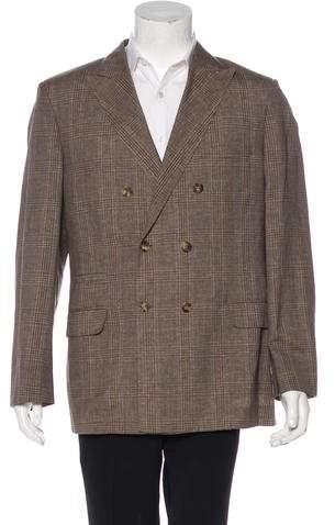 Brunello Cucinelli Wool & Linen-Blend Double-Breasted Sport Coat